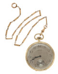 Timepieces:Pocket (post 1900), Howard 14k Gold 17 Jewel Pocket Watch. ...