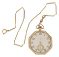 Timepieces:Pocket (post 1900), Elgin 14k Gold 15 Jewel Pocket Watch. ...