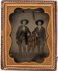 Photography:Ambrotypes, Quarter-Plate Ambrotype Photograph of Two Texans, circa 1858....