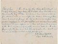 Militaria:Ephemera, [Mexican War]. Captain George W. Adams Autograph Testimony Signed ...