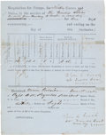 Autographs:Military Figures, [Mexican War]. Lt. John C. Gooch Forage Requisition Twice Signed....