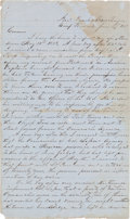 """Autographs:Military Figures, [Texas Rangers]. John S. """"RIP"""" Ford Autograph Letter Signed. ..."""
