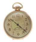 Timepieces:Pocket (post 1900), Waltham 14k Gold 12 Size, Secometer Dial. ...
