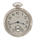 Timepieces:Pocket (post 1900), Howard 14k White Gold 12 Size. ...
