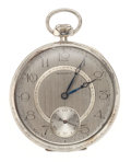 Timepieces:Pocket (post 1900), Howard 14k White Gold 19 Jewel Pocket Watch. ...