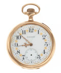 Timepieces:Pocket (post 1900), Waltham 14k Gold 15 Jewel Pocket Watch. ...