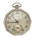 Timepieces:Pocket (post 1900), Illinois 14k Gold 21 Jewel Pocket Watch. ...