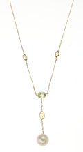 Estate Jewelry:Necklaces, Peridot, Pearl, Gold Necklace. ...
