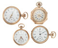 "Timepieces:Pocket (post 1900), Four 14k Gold ""O"" Size Pocket Watches. ... (Total: 4 Items)"