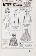 Original Comic Art:Splash Pages, Al Hartley Patsy Walker #109 Patsy's Fashion Cut-Out Page 6Original Art (Marvel, 1963)....