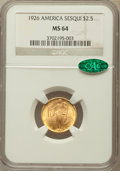 Commemorative Gold: , 1926 $2 1/2 Sesquicentennial MS64 NGC. CAC. NGC Census:(2819/1220). PCGS Population (4351/2098). Mintage: 46,019.Numismed...