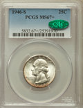 Washington Quarters: , 1946-S 25C MS67+ PCGS. CAC. PCGS Population (118/4). NGC Census:(323/3). Mintage: 4,204,000. Numismedia Wsl. Price for pro...