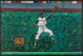 Baseball Collectibles:Others, Roberto Clemente Original Oil Painting....