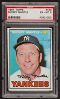 Baseball Cards:Singles (1960-1969), 1967 Topps Mickey Mantle #150 PSA EX-MT 6....