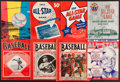 "Baseball Collectibles:Publications, 1923-60 Major League Baseball All Star Programs and ""Baseball""Magazine Lot of 8...."