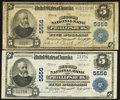 Phillipsburg, NJ - $5 1902 Plain Back Fr. 607 The Second NB Ch. # 5556, Two Examples