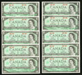 Canadian Currency: , High-Grade $1 1967 Notes Part II.. ... (Total: 116 notes)