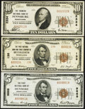 National Bank Notes:Pennsylvania, Bethlehem, PA - $5 1929 Ty. 2 The First NB & TC Ch. # 138. Dunmore, PA - $5 1929 Ty. 1 The First NB Ch. # 9868. ... (Total: 3 notes)