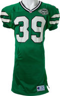 Football Collectibles:Uniforms, 1993 Johnny Johnson Game Worn New York Jets Jersey....