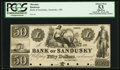 Obsoletes By State:Ohio, Sandusky, OH- The Bank of Sandusky $50 G12a Wolka 2382-18 Proof....