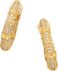 Estate Jewelry:Earrings, Cartier Diamond, Gold Earrings. ...