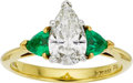 Estate Jewelry:Rings, Tiffany & Co. Diamond, Emerald, Platinum, Gold Ring. ...