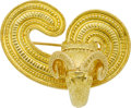 Estate Jewelry:Brooches - Pins, Lalaounis 18k Gold Brooch. ...