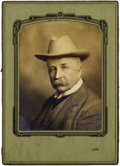 Photography:Studio Portraits, PRISTINE SIGNED AND INSCRIBED SELF PORTRAIT BY D.F. BARRY. While he preferred to stay behind the camera lens, Barry did hims... (Total: 1 Item)