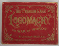 Antiques:Decorative Americana, Parlor Game Logomachy War of Words 1889....