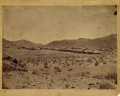 """Photography:Official Photos, TWO F.S. MITCHELL SCENIC VIEWS OF 1880s BELLEVILLE, NEVADA. Twolarge (approximately 9.75"""" x 7"""") images of the town of Belle...(Total: 1 Item)"""