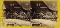 Photography:Stereo Cards, THREE WELLS FARGO & COMPANY & OVERLAND MAIL STAGECOACHES ca. 1870s. All aboard for Virginia City and Overland Mail. Thi... (Total: 1 Item)