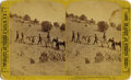 "Photography:Stereo Cards, TWO STEREOGRAPH CARDS SANTA FE & LOS CERRILLOS, NEW MEXICO TERRITORY ca 1870 #1. Very early in period ink ""East view of th... (Total: 1 Item)"