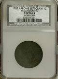1787 1C --Corroded--Massachusetts Cent, Arrows in Left Talon F12 F Details NCS. NGC Census: (0/0). PCGS Population (1/93...