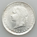 Colombia, Colombia: A 6-Piece Lot of 50 Centavos and 5 Decimos 1882-1907,... (Total: 6 coins)