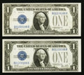 Small Size:Silver Certificates, Fr. 1601/1602 $1 1928A/1928B Silver Certificates. Changeover Pair. Choice Crisp Uncirculated.. ... (Total: 2 notes)