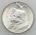 German States, German States: Mixed States 2 and 5 Mark Lot 1901-13,... (Total: 5 coins)