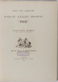 "Books:Literature Pre-1900, David Croal Thomson. LIMITED EDITION. Life and Labours of HablotKnight Brown ""Phiz"". Chapman and Hall, 1884. Fi..."