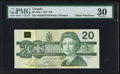 Canadian Currency: , BC-58b-i $20 1991 Offset Print Error on Back. ...