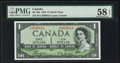 Canadian Currency: , BC-29a $1 1954 Devil's Face . ...