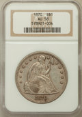 Seated Dollars: , 1870 $1 AU58 NGC. NGC Census: (25/58). PCGS Population (19/74).Mintage: 415,000. Numismedia Wsl. Price for problem free NG...