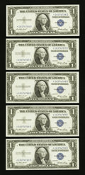 Small Size:Silver Certificates, Miscellaneous $1 Silvers.. ... (Total: 9 notes)