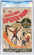 Silver Age (1956-1969):Superhero, The Amazing Spider-Man #1 (Marvel, 1963) CGC GD/VG 3.0 Off-white towhite pages....