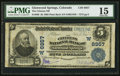 National Bank Notes:Colorado, Glenwood Springs, CO - $5 1902 Plain Back Fr. 598 The Citizens NBCh. # (W)6957. ...