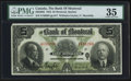 Canadian Currency: , Montreal, PQ- Bank of Montreal $5 Jan. 2, 1923 Ch. 505-56-02. ...