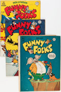 Golden Age (1938-1955):Funny Animal, Funny Folks Group (DC, 1946-50).... (Total: 4 Comic Books)