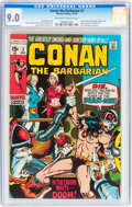 Bronze Age (1970-1979):Adventure, Conan the Barbarian #2 (Marvel, 1970) CGC VF/NM 9.0 Off-white to white pages....