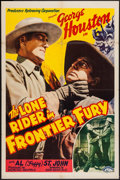 """Movie Posters:Western, Lone Rider in Frontier Fury (PRC, 1941). One Sheet (27"""" X 41""""). Western.. ..."""