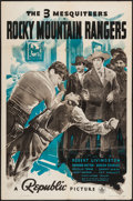 "Movie Posters:Western, Rocky Mountain Rangers & Other Lot (Republic, 1940). One Sheets (2) (27"" X 41""). Western.. ... (Total: 2 Items)"