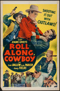 """Movie Posters:Western, Roll Along, Cowboy (Guaranteed, R-1940s). One Sheet (27"""" X 41""""). Western.. ..."""