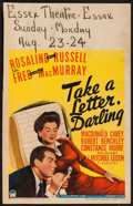"""Movie Posters:Comedy, Take a Letter, Darling (Paramount, 1942). Window Card (14"""" X 22""""). Comedy.. ..."""